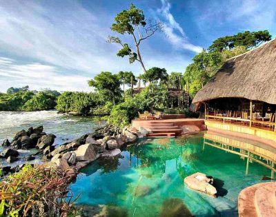 Wildwaters lodge in Oeganda